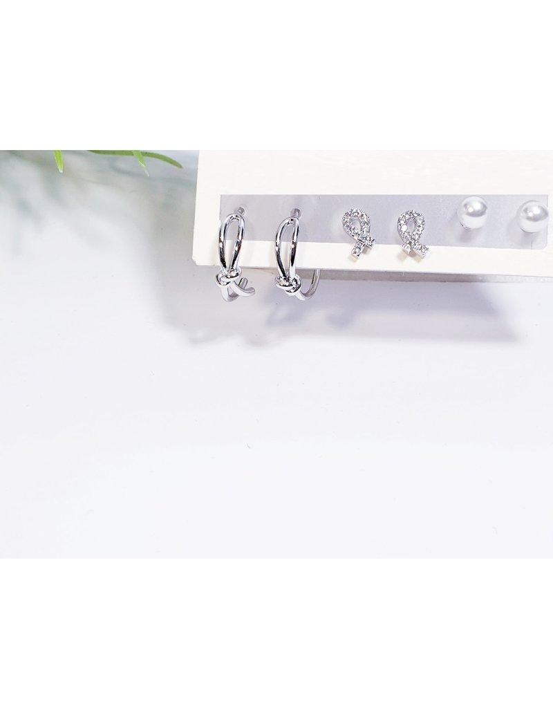 EMA0152 - Silver  Multi-Pack Earring