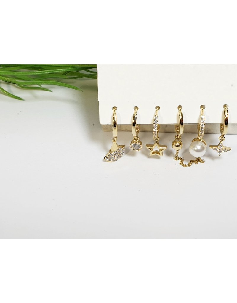 EMA0133 - Gold  Multi-Pack Earring