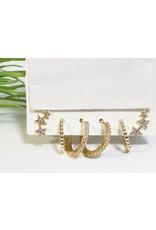 EMA0154 - Gold  Multi-Pack Earring