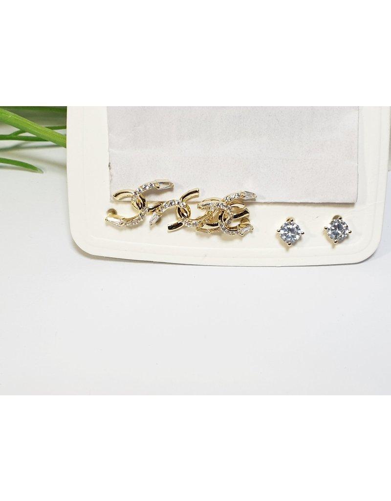 EMA0157 - Gold  Multi-Pack Earring