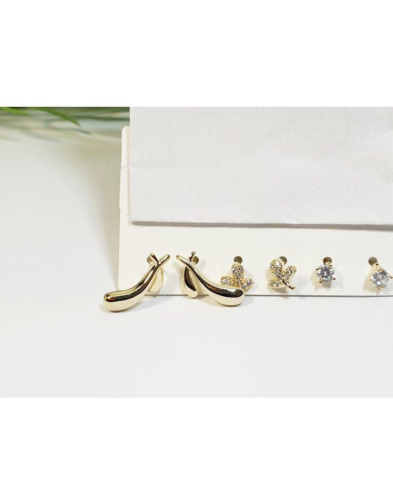 EMA0163 - Gold  Multi-Pack Earring