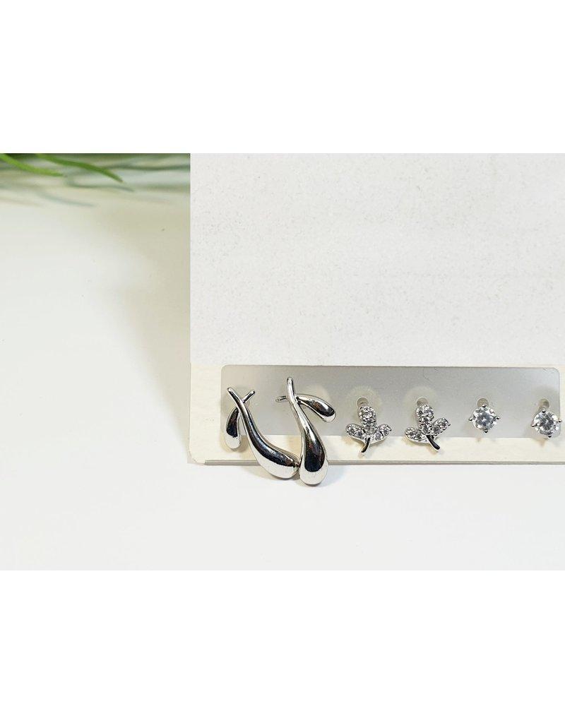 EMA0164 - Silver  Multi-Pack Earring