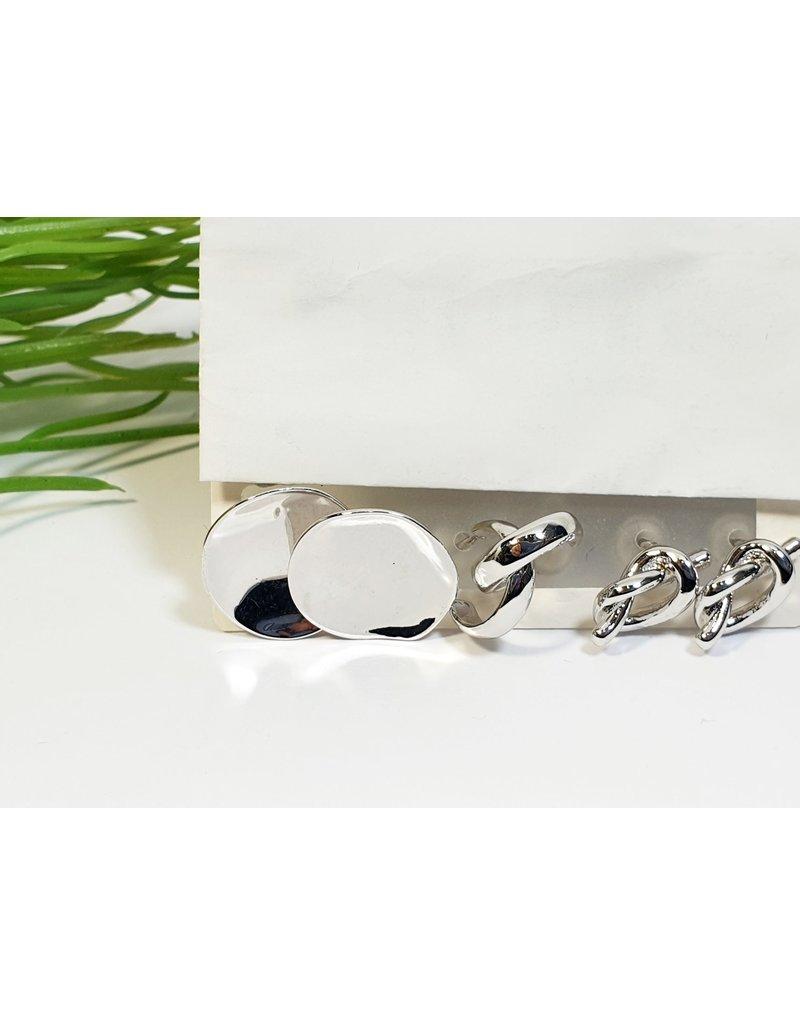 EMA0167 - Silver  Multi-Pack Earring