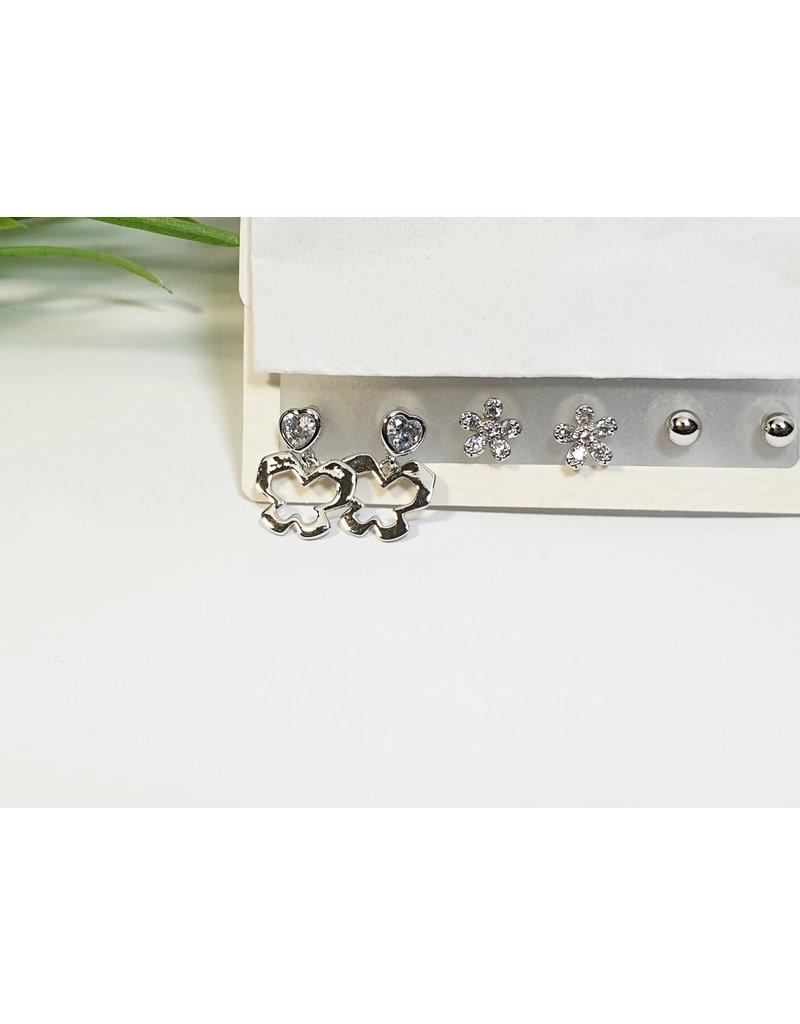 EMA0169 - Silver  Multi-Pack Earring