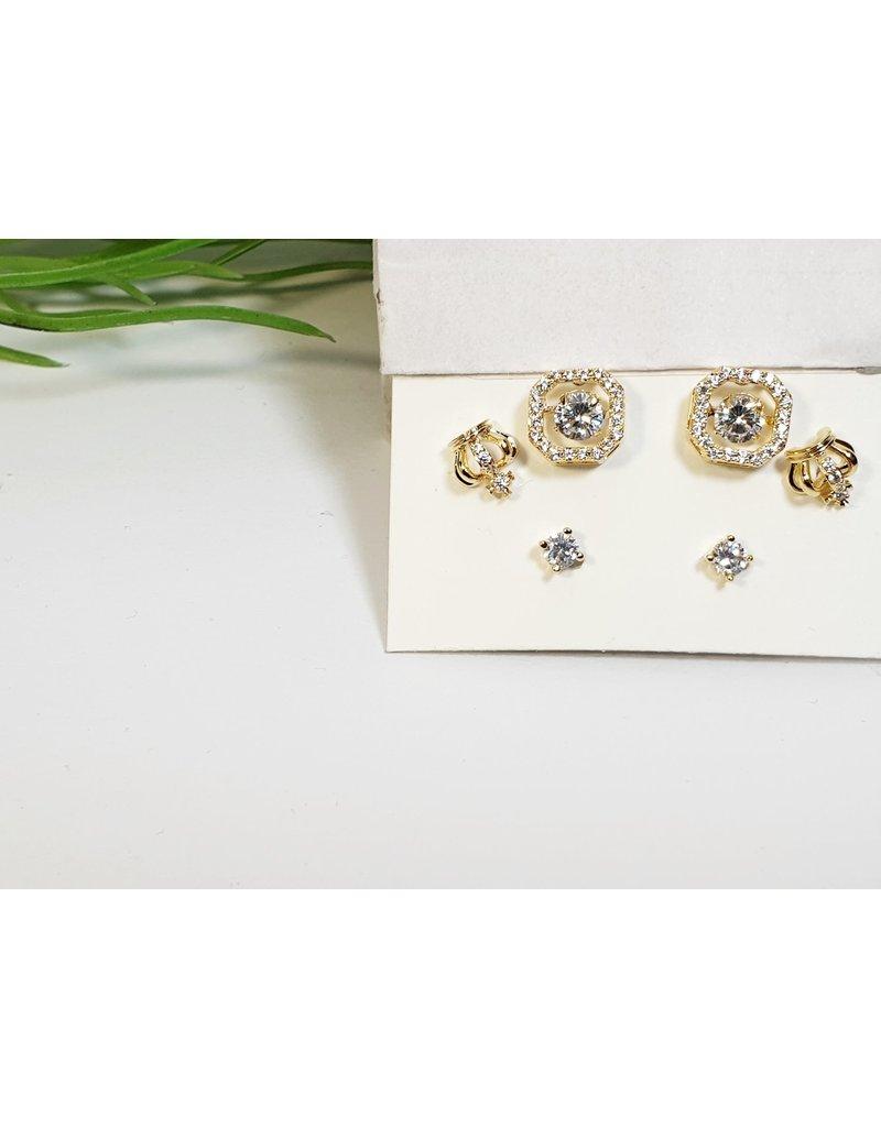 EMA0176 - Gold  Multi-Pack Earring