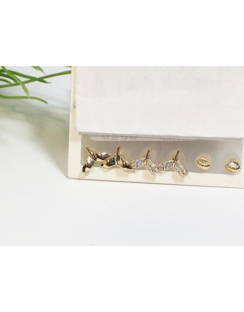 EMA0190 - Gold Mermaid  Multi-Pack Earring