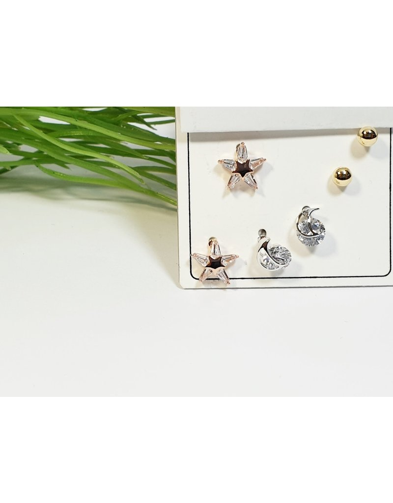 EMA0196 - Multi Colour  Multi-Pack Earring