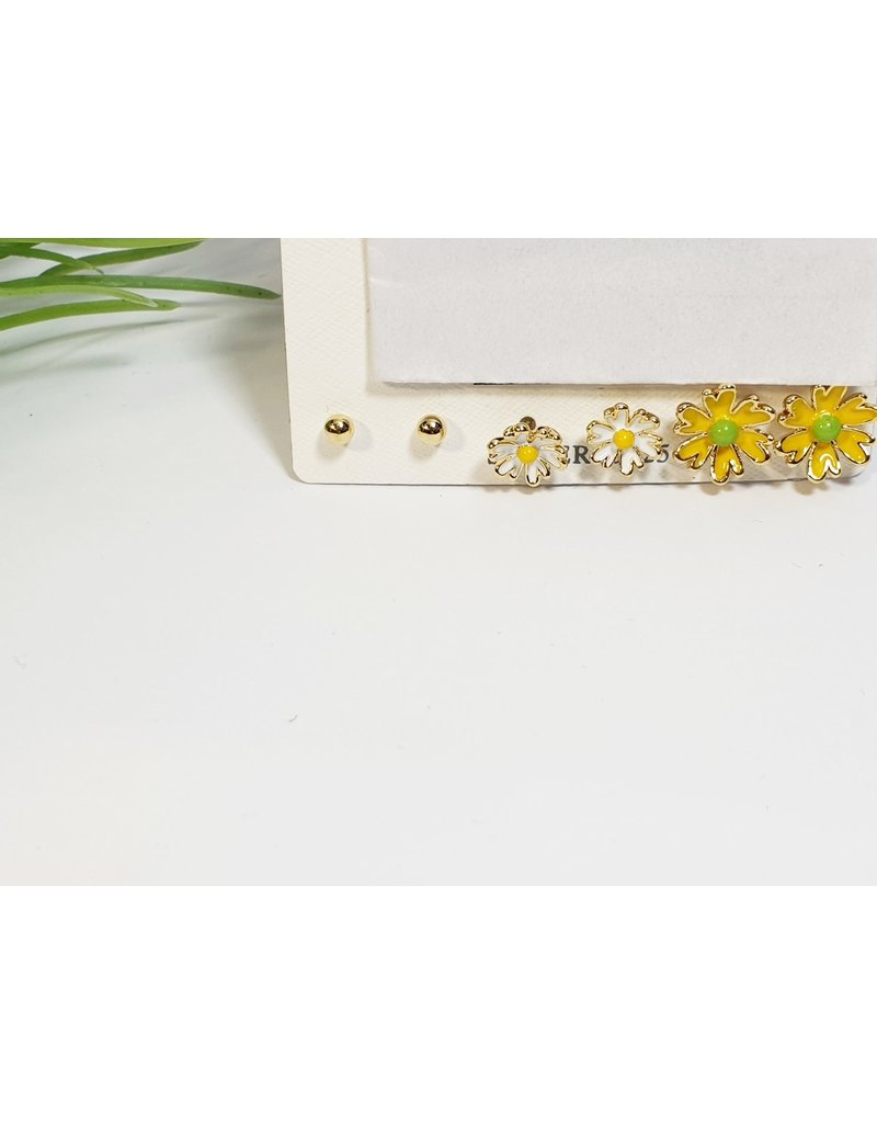 EMA0203 - Gold Daisies  Multi-Pack Earring