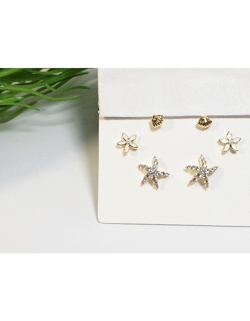 EMA0204 - Gold  Multi-Pack Earring