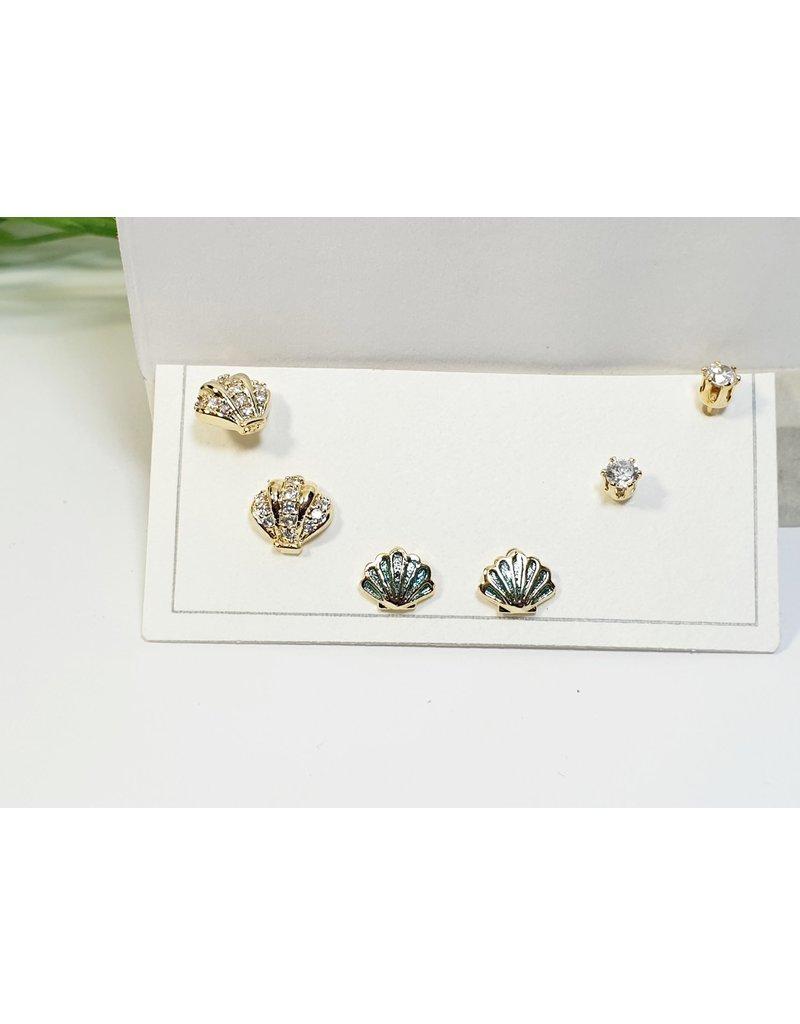 EMA0205 - Gold Shell  Multi-Pack Earring