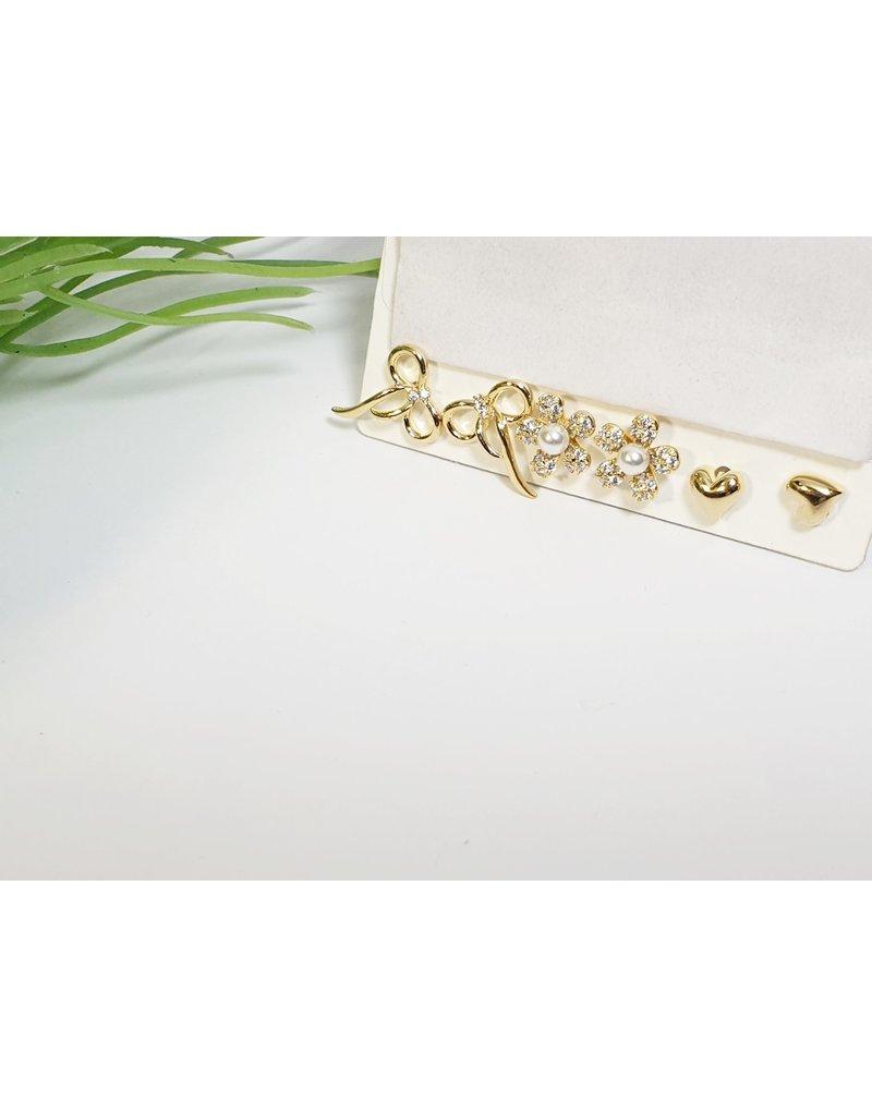 EMA0218 - Gold  Multi-Pack Earring