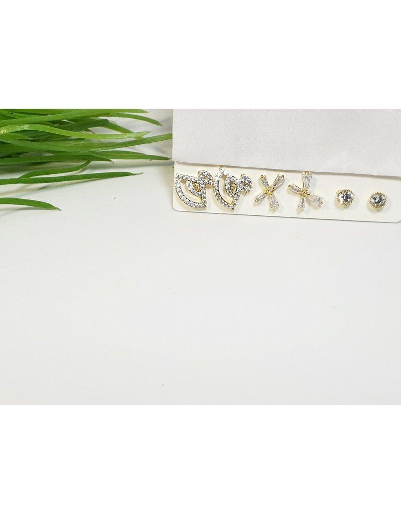 EMA0216 - Gold  Multi-Pack Earring