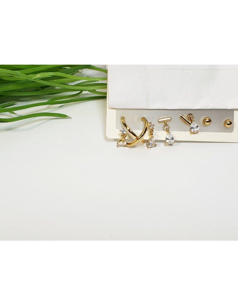 EMA0228 - Gold  Multi-Pack Earring