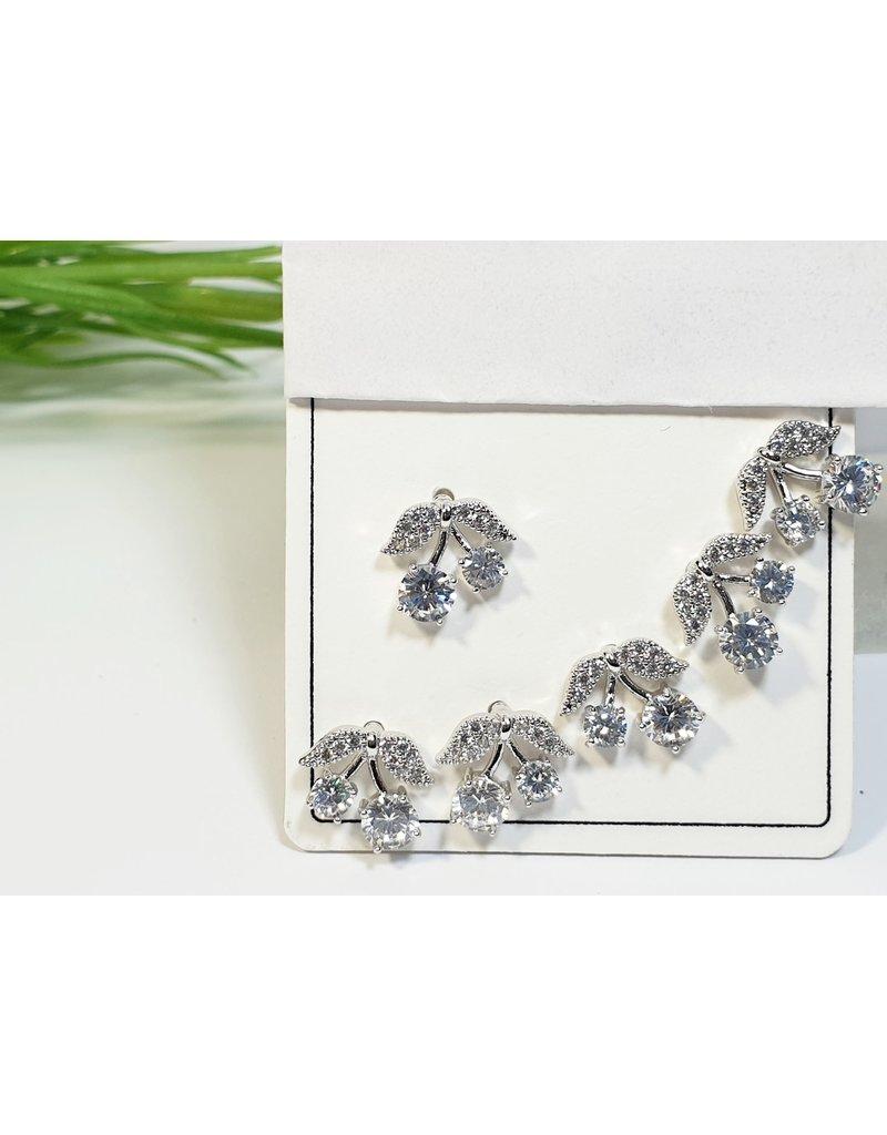 EMA0230 - Silver  Multi-Pack Earring