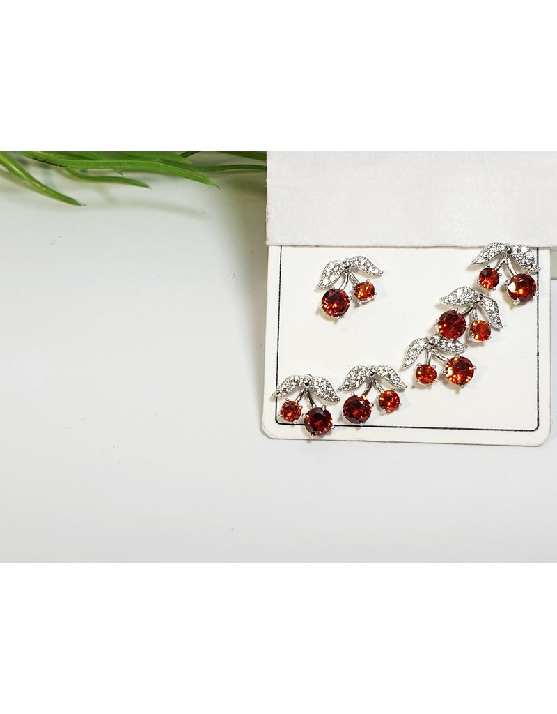 EMA0231 - Silver Red   Multi-Pack Earring