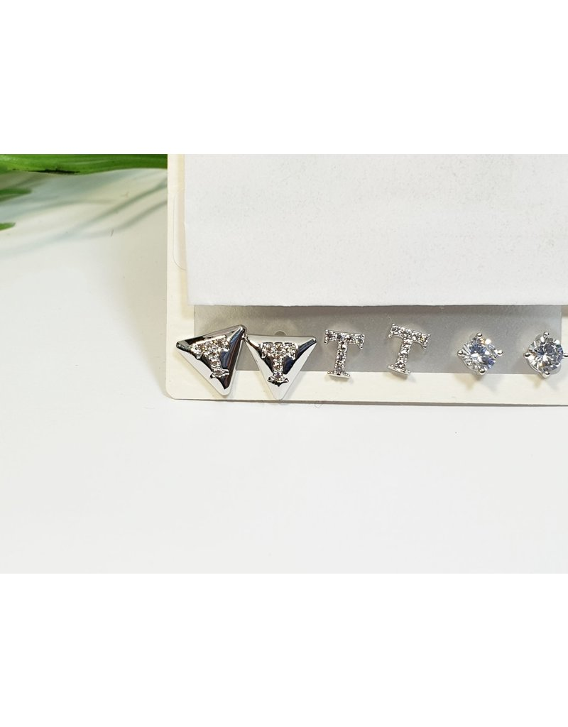 EMA0233 - Silver  Multi-Pack Earring