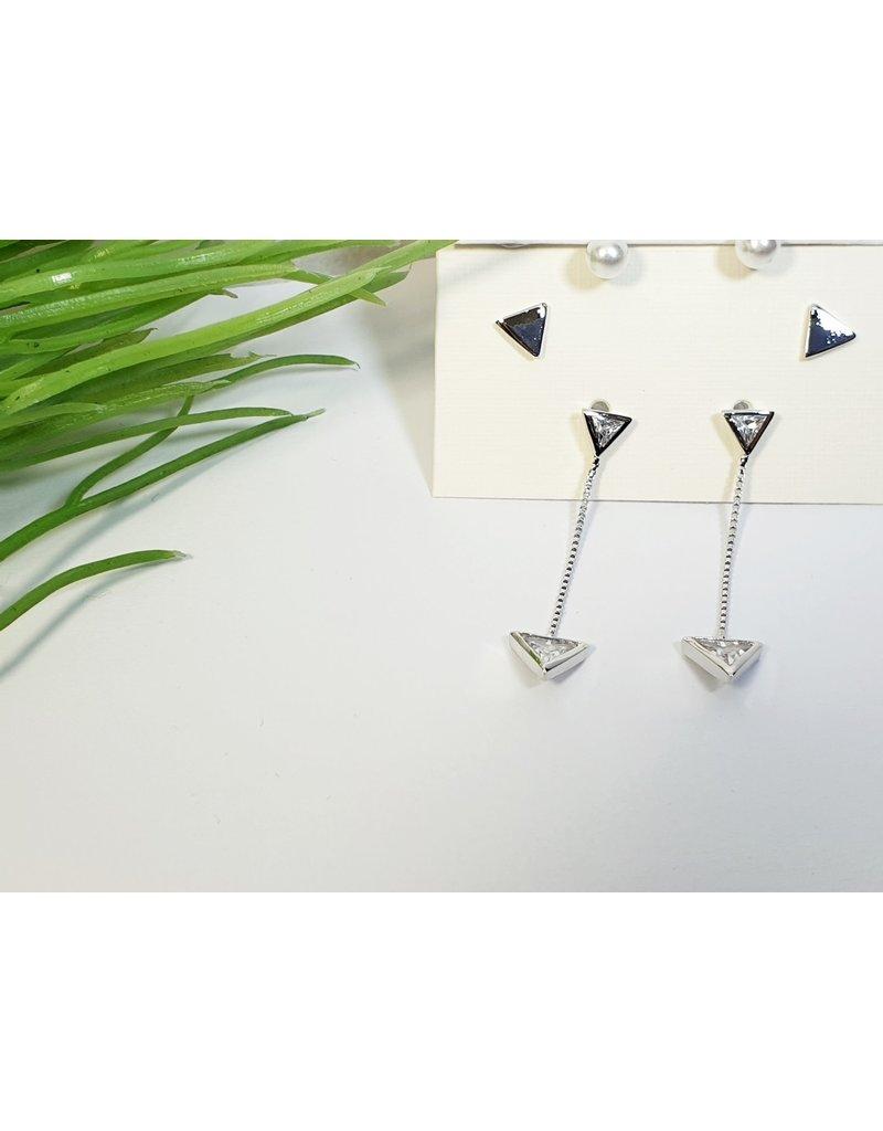 EMA0238 - Silver Pearls  Multi-Pack Earring