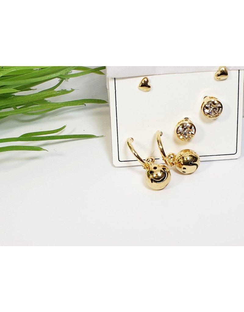 EMA0246 - Silver  Multi-Pack Earring