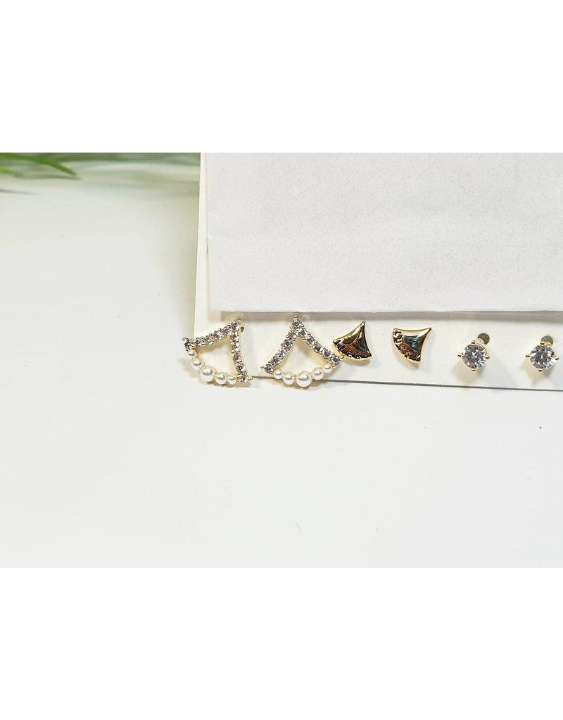 EMA0249 - Gold  Multi-Pack Earring