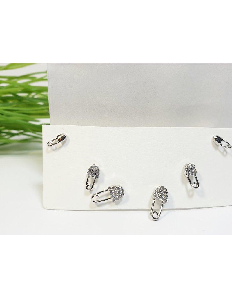 EMA0260 - Silver Pin  Multi-Pack Earring