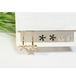 EMA0272 - Gold  Multi-Pack Earring