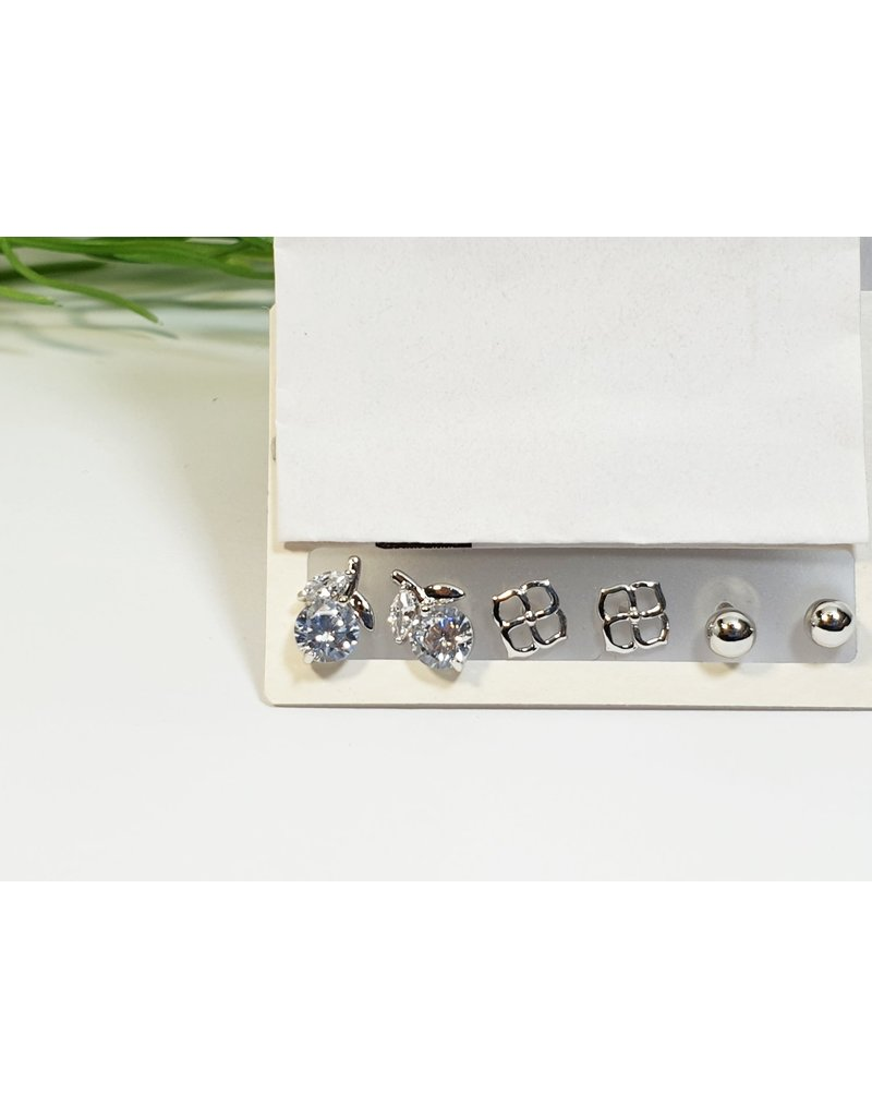 EMA0280 - Silver  Multi-Pack Earring