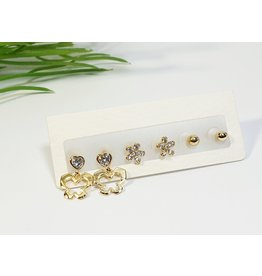 EMA0282 - Gold  Multi-Pack Earring