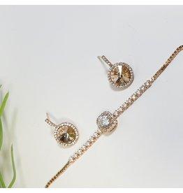 GSA0025-Rose Gold, Bracelet with EARRING