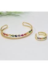 GSA0027-Multicolour Bangle, Multicolour Ring with