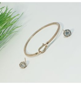 GSA0026-Rose Gold, Bangle with EARRING
