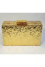 Cta0004 - Gold, Marble Clutch Bag