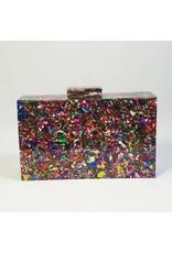Cta0006 - Multicolour, Marble Clutch Bag
