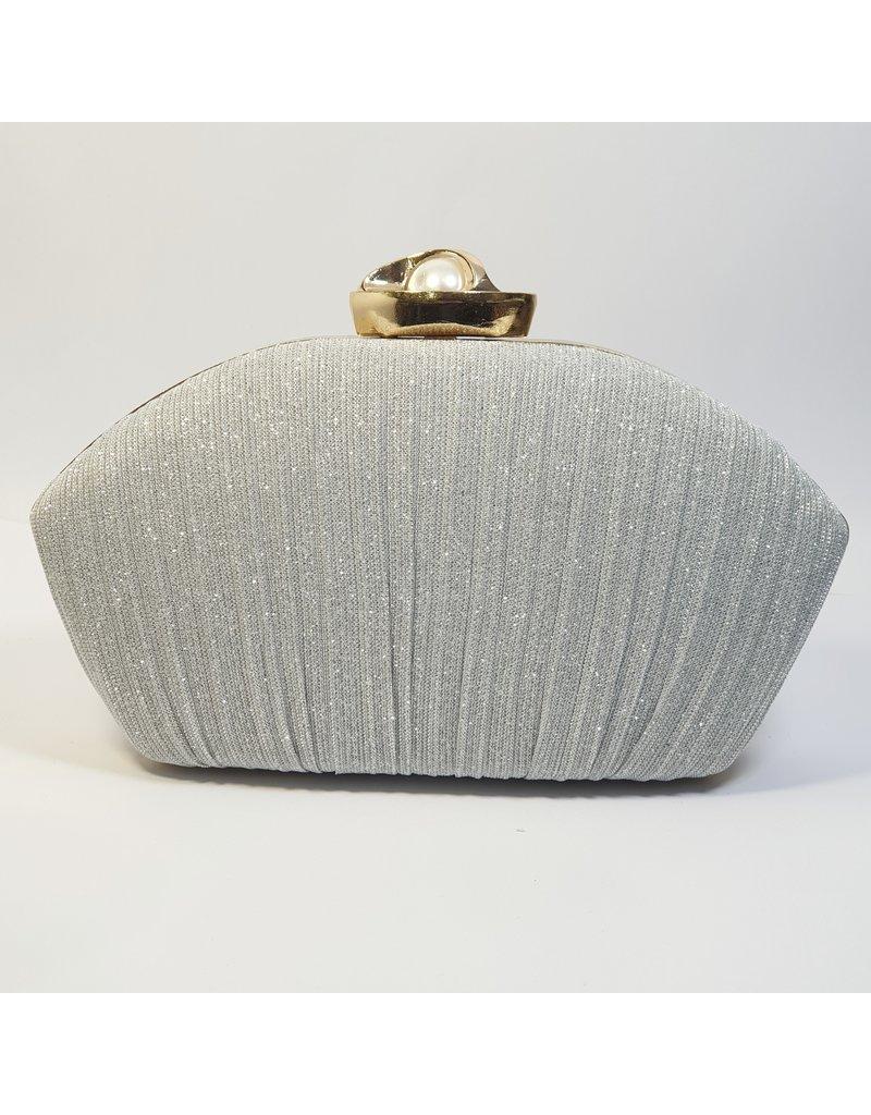 Cta0016 - Silver,  Clutch Bag