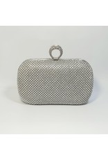 Cta0055 - Silver,  Clutch Bag