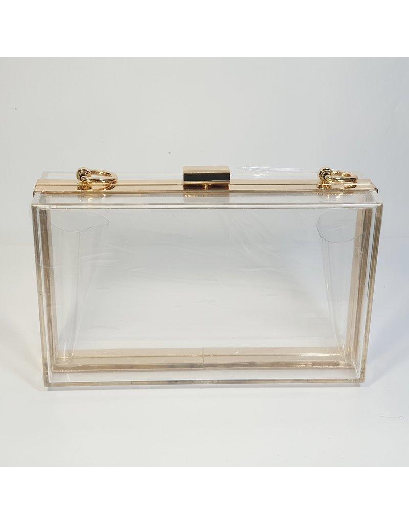 Cta0059 - Clear,  Novelty Clutch Bag