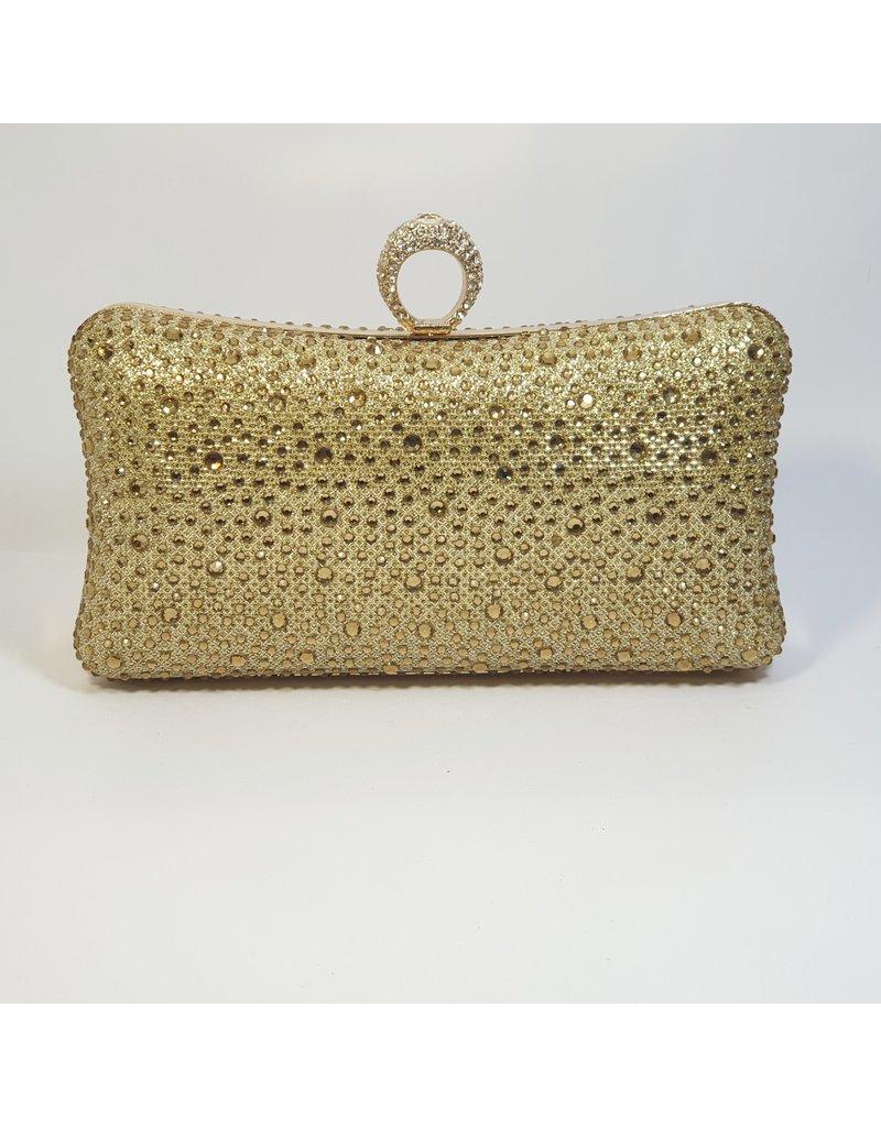 Cta0079 - Gold,  Clutch Bag