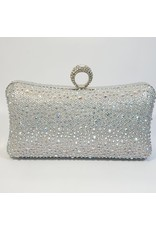 Cta0082 - Silver,  Clutch Bag