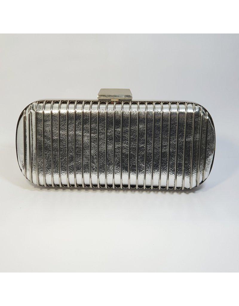 Cta0093 - Silver,  Clutch Bag
