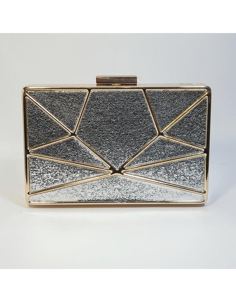 Cta0094 - Silver,  Clutch Bag