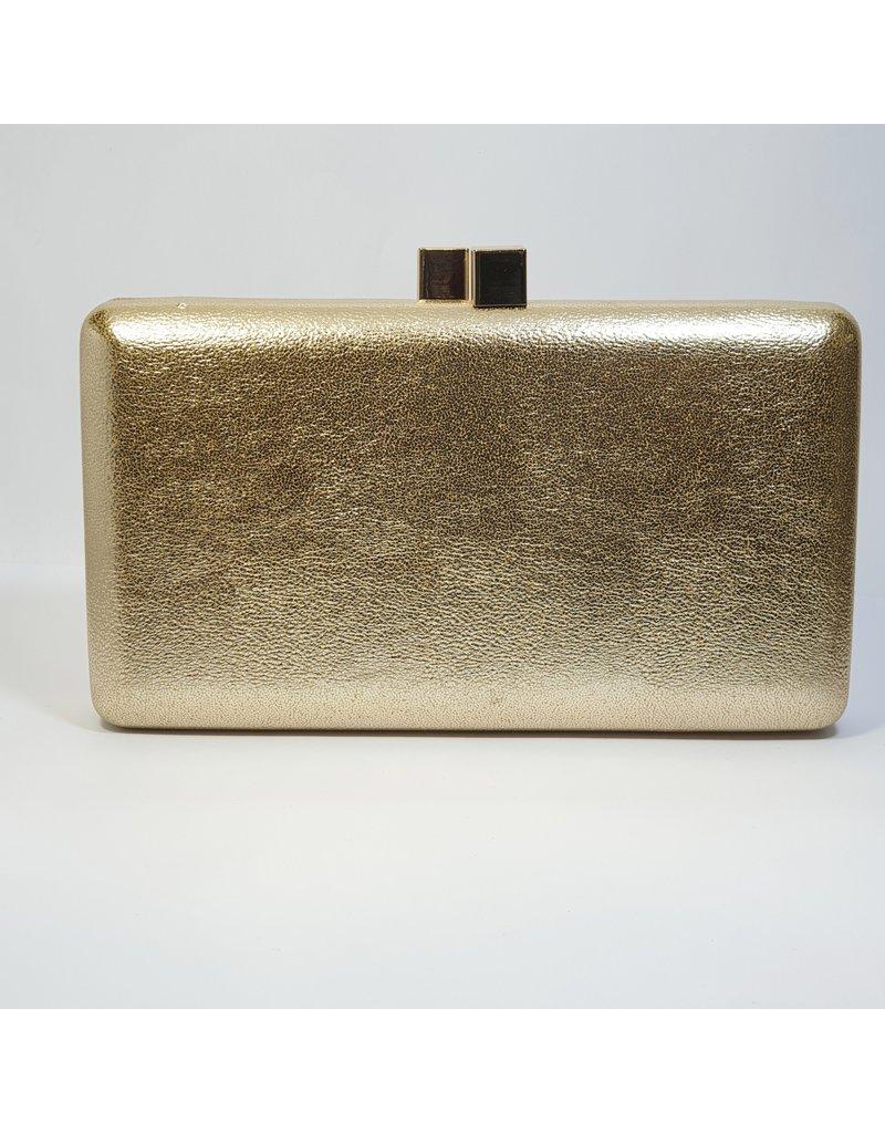 Cta0106 - Gold, Rectangle Clutch Bag
