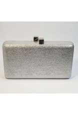 Cta0107 - Silver, Rectangle Clutch Bag