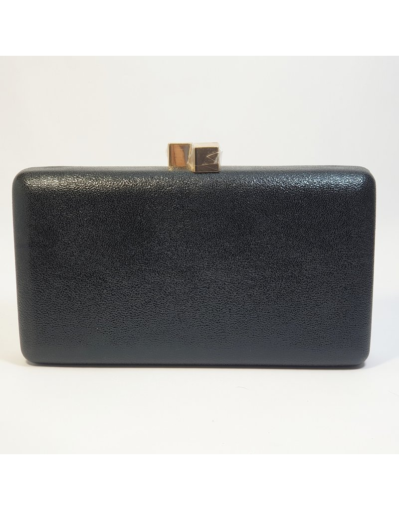 Cta0109 - Black, Rectangle Clutch Bag