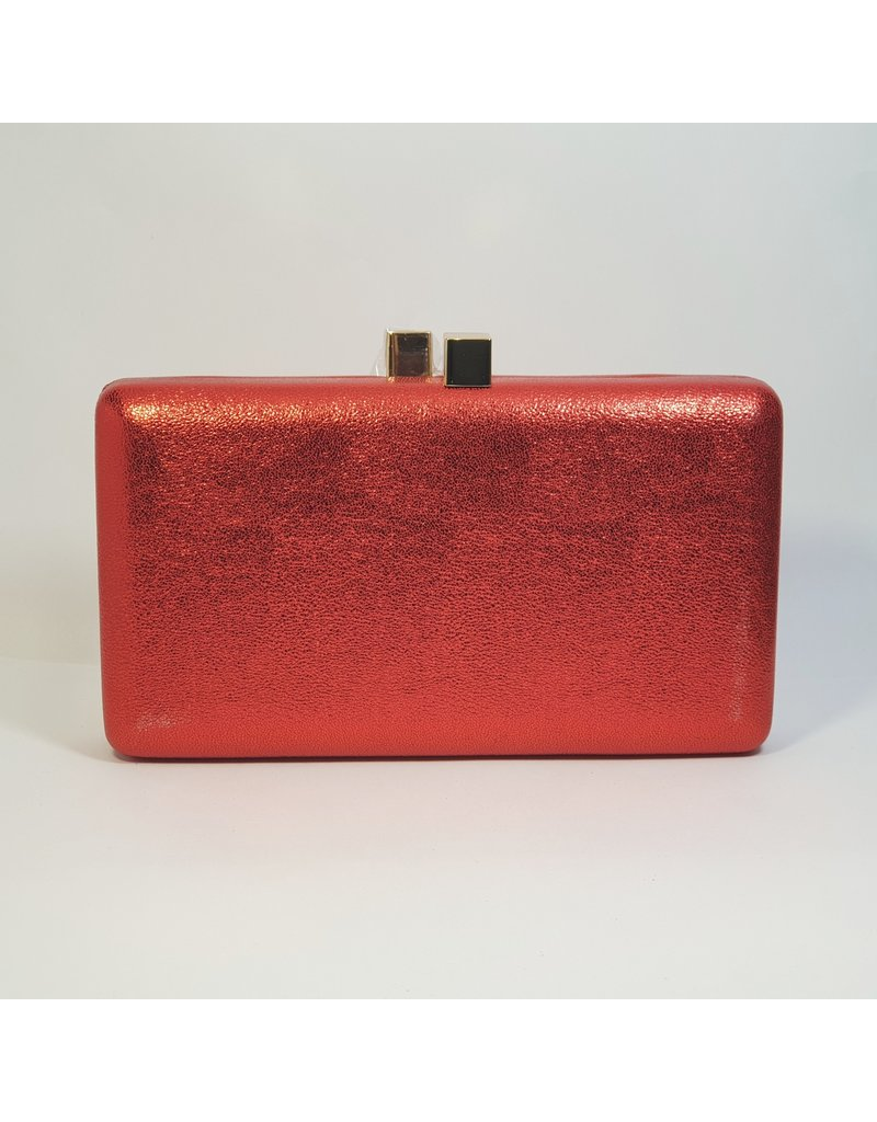 Cta0110 - Red, Rectangle Clutch Bag
