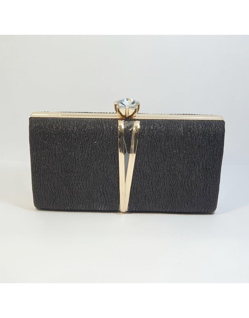 Cta0112 - Black,  Clutch Bag