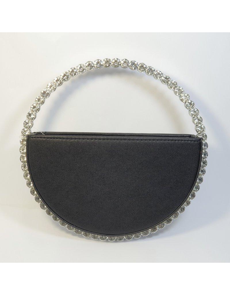 Cta0114 - Black, Round Clutch Bag