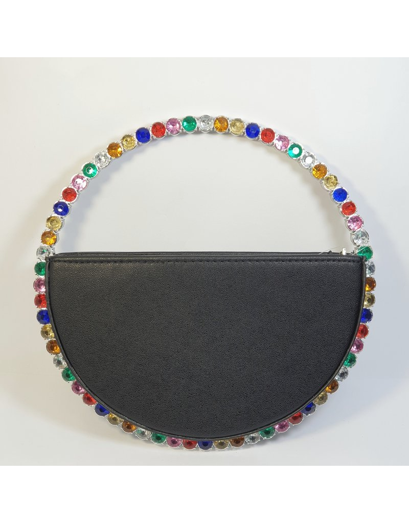 Cta0115 - Black, Multicolour Clutch Bag