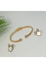 GSA0046-Gold, Bow Earring with BANGLE