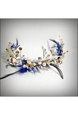 HPF0013 - Gold, Blue Vintage Tiara