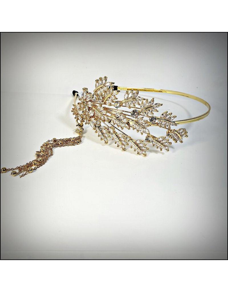 HPF0016 - Gold, Leaf Vintage Tiara