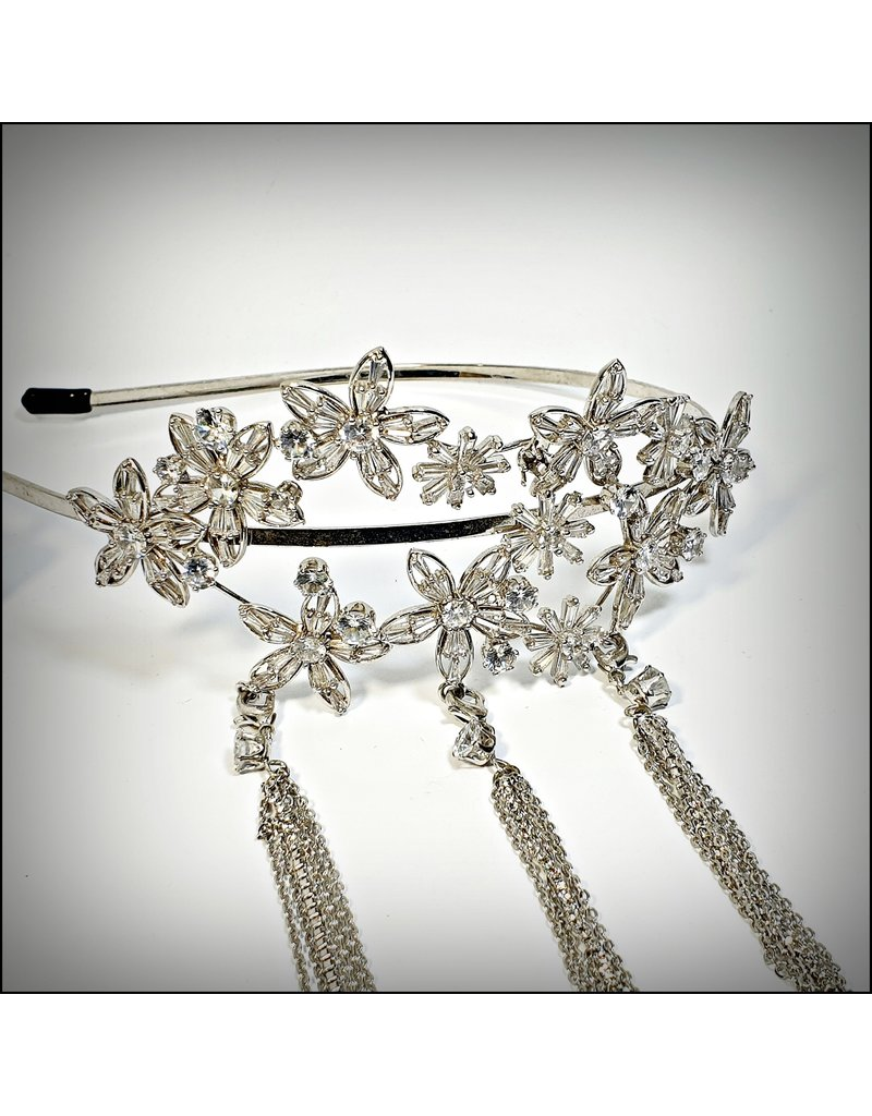 HPF0020 - Silver Flower Alice Band